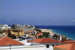 Beautiful beach on the Atlantic Ocean on Fuerteventura in the vi Stock Photos