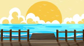 Beautiful beach background scene. Illustration royalty free illustration
