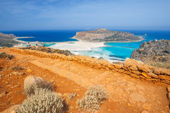 Beautiful beach in  Balos Lagoon, Crete Royalty Free Stock Photography
