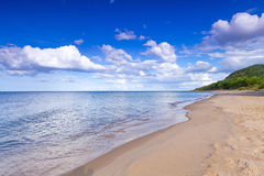Beautiful beach of Baltic Sea. In Sweden Stock Images