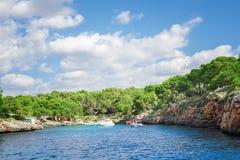 Beautiful beach bay azure sea water. Stock Images