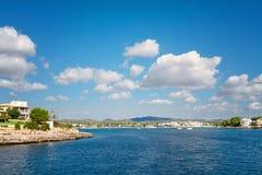 Beautiful beach bay azure sea water. Royalty Free Stock Photos