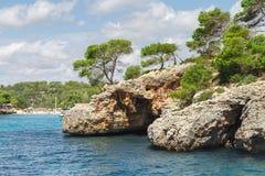 Beautiful beach bay azure sea water. Royalty Free Stock Photography