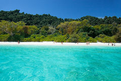 Beautiful beach with blue sea at Tachai island, South of Thailand Royalty Free Stock Photography