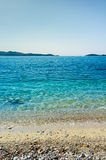 Beautiful Beach in a blue sky day at Adriatic sea, Croatia Stock Images