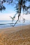 Beautiful beach with blue sky at Mai khao beach, Phuket, Thailand Royalty Free Stock Photos