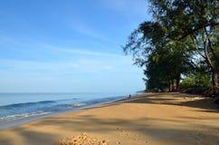 Beautiful beach with blue sky at Mai khao beach, Phuket, Thailand Royalty Free Stock Photo