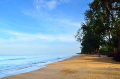 Beautiful beach with blue sky at Mai khao beach, Phuket, Thailand Stock Image