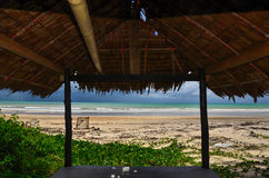 Beautiful beach and blue sky Royalty Free Stock Photos