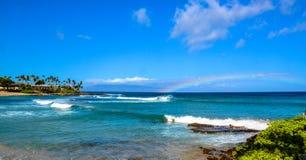 Beautiful beach. Blue water and blue sky beach Stock Photography