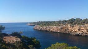 Mallorca blue water beach Stock Image