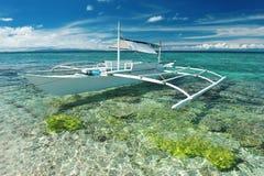 Beautiful beach with boat Stock Photo