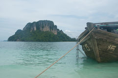 Beautiful beach and boat in andaman sea,Thailand Royalty Free Stock Photos