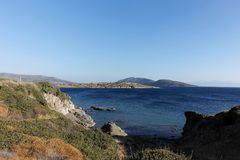 Beach of Bodrum royalty free stock photography