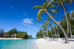 Beautiful beach on Bora Bora Stock Photo