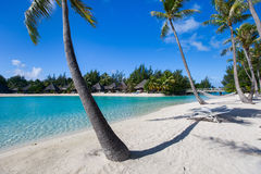 Beautiful beach on Bora Bora Royalty Free Stock Photos