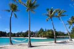Beautiful beach on Bora Bora Royalty Free Stock Photos