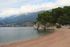 Beautiful beach on the Budva Riviera. Montenegro Stock Image