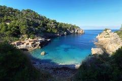 Cala de Deia in northern Mallorca, Spain. Beautiful beach, Cala de Deia in northern Mallorca, Spain Stock Image