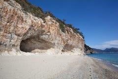 Beautiful beach at Cala Luna, Sardinia Stock Image