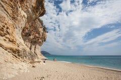 Beautiful beach at Cala Luna, Sardinia Royalty Free Stock Photos