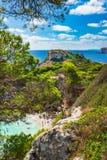 Beautiful beach of Cala Moro bay Majorca Spain Mediterranean Sea Stock Photography