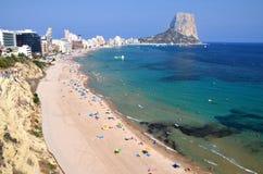Beautiful beach in Calpe, Spain Stock Photos