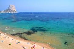 Beautiful beach in Calpe, Spain Royalty Free Stock Image
