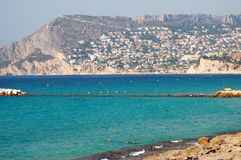 Beautiful beach in Calpe, Spain Stock Photography