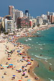 Beautiful beach in Calpe, Spain Royalty Free Stock Photography