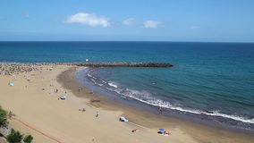Beautiful beach on Canary Islands in full HD stock video footage