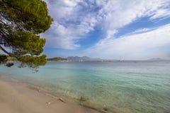 Beach Cap de Formentor, Mallorca, Spain. Beautiful Beach on Cap de Formentor with transparent water, Mallorca, Spain Stock Photography