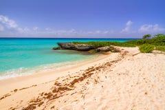 Beautiful beach at Caribbean sea. In Mexico Stock Image