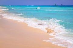 Beautiful beach at Caribbean sea. In Mexico Royalty Free Stock Photos