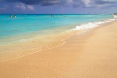 Beautiful beach at Caribbean sea. In Mexico Royalty Free Stock Image