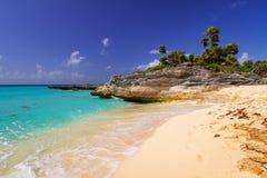Beautiful beach at Caribbean sea. In Mexico Stock Photo
