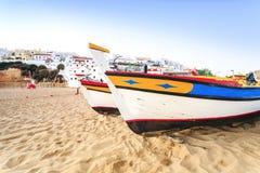 Beautiful beach in Carvoeiro, Algarve, Portugal Stock Image