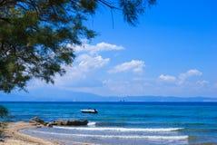 Beautiful beach at Chalkidiki peninsula Stock Photography