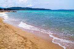 Beautiful beach at Chalkidiki peninsula Stock Photography