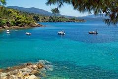 Beautiful beach at Chalkidiki peninsula Royalty Free Stock Photos