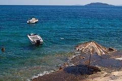 Beautiful beach at Chalkidiki peninsula Stock Photos