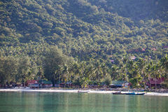 Beautiful beach Chaloklum. Island Koh Phangan, Thailand Royalty Free Stock Photography