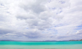 Beautiful Beach and cloud  Scene. Beautiful Beach in Izmir,Turkey Royalty Free Stock Photo