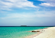 Beautiful beach coast line in Maldive Royalty Free Stock Image