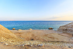Beautiful beach coast in the Red Sea, Egypt. Royalty Free Stock Photos