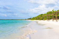 Beautiful beach at Coco Key in Cuba Stock Photo