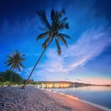 Beautiful beach with colorful sky, Thailand Royalty Free Stock Photo