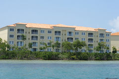 Beautiful beach condos. Shot of beautiful beach condos Stock Images