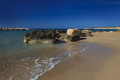The beautiful beach of Coral Bay, Cyprus Royalty Free Stock Photography