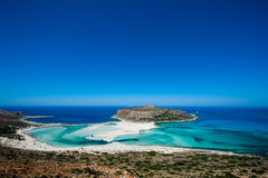 Beautiful Beach on Crete stock photo